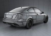 Обвес на Mercedes-Benz C-Class 63 AMG Coupe Black Series